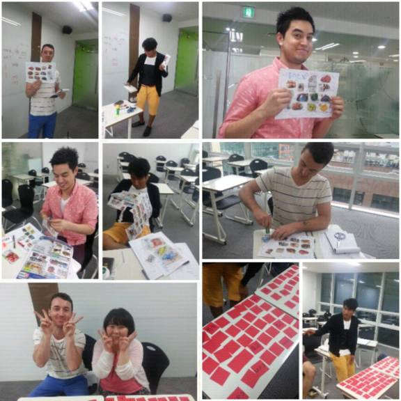 Students of the morning Intensive Korean class having fun while studying!